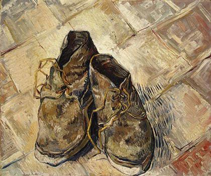 Ces Souliers Sont Les Seuls Que Van Gogh Ait Fait Reposer Sur Un Sol  Réaliste, Fait De Briques Rouges. Ce Sol Est Probablement Celui De La  Maison Jaune, ...