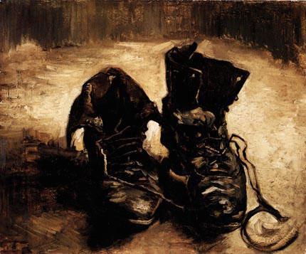tableau peinture chaussure van gogh