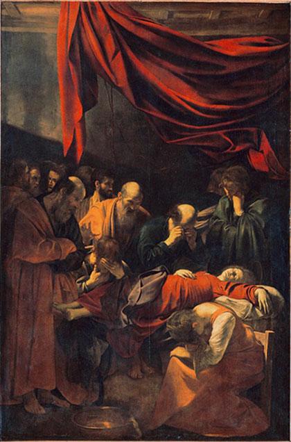 La mort de la vierge (le caravage, 1605-1606)
